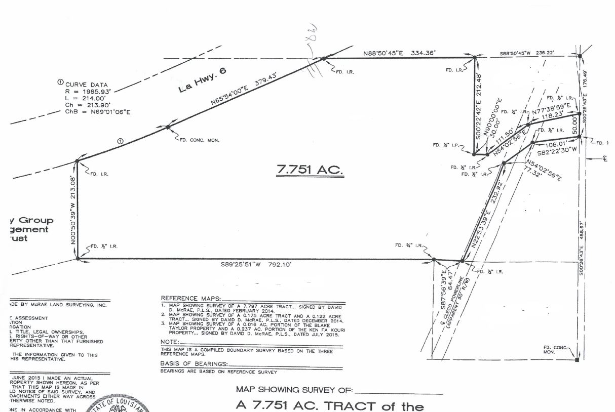 LA Hwy 6 Commercial Acreage